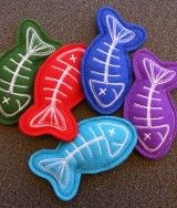 Cat toy Fishbone filled with Catnip - I just bought 3 of these for my kitties. :-)