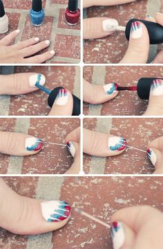 4th fourth of july nails