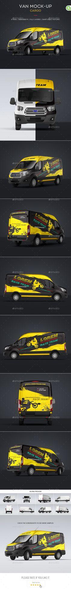 Cargo Van Mock-Up. Download here: http://graphicriver.net/item/cargo-van-mockup/16139306?ref=ksioks