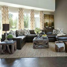 Sofa and greenery