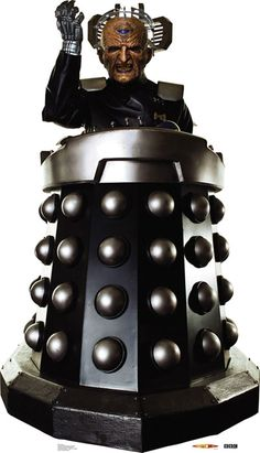 Doctor Who: Davros Cardboard Standup Davros from the popular TV show Doctor Who. This life-size standup is 34″ x 61″ tall. Davros is part of the Dalek race that contends with The Doctor.
