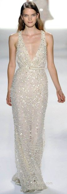 White and Gold Wedding. Gold Bridesmaid Dress. Soft and Romantic. Elie Saab Spring Summer 2012