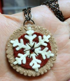 snowflake ornies This would be cute made out of wood w/a rusty sflake