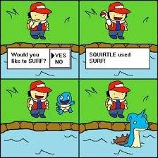 Squirtle used surf...