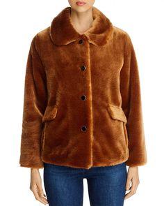 kate spade new york Faux Fur Short Coat Women - Bloomingdale's Faux Fur Jacket, Fur Coat, My Wardrobe, Coats For Women, Kate Spade, Gingerbread, York, Female, Jackets