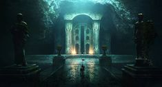 "Nargothrond by jonathanguzi.deviantart.com on @DeviantArt. ""Gate of Nargothrond, after Turin convinced them to build a bridge."""