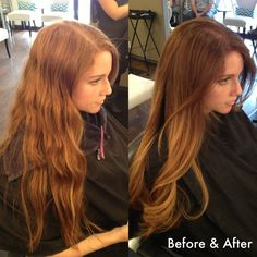 Before and After. Natural Redhead to a Gorgeous Warm Ombré by Laura Saari | Yelp