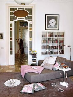 Un rincón de lectura en el salón Chic & Vintage - Nuevo Estilo