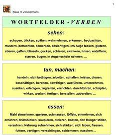Deutsch als Fremdsprache DaF DaZ Grammatik - Wortfeld - #als #DaF #DaZ #Deutsch #Fremdsprache #Grammatik #language #Wortfeld