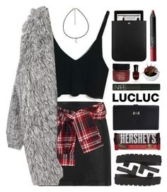 """""""Lucluc.com"""" by sarahkatewest ❤ liked on Polyvore featuring T By Alexander Wang, David Szeto, Serge Normant, Deborah Lippmann, NARS Cosmetics, Hershey's, SPURR and Yves Saint Laurent"""