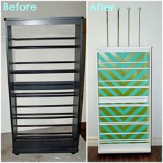 Before- VHS tapes, After-Ribbon Storage Rack- a must see!