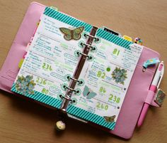Twine It Up! with Trendy Twine: At Home Planner Stamp Set and Trendy Page Dot reinforcements in action.