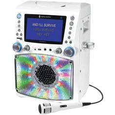 THE SINGING MACHINE STVG785BTW Classic Series CD/CD+G/MP3+G Karaoke Player with Lights & Bluetooth(R)