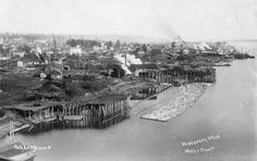 Vancouver, Wa. waterfront, pictured in 1905.