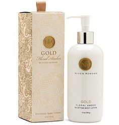 Niven Morgan Gold Body Lotion - Pure luxury! Our body lotion is a velvety blend of organically grown aloe vera, moisturizing shea butter, extracts of cucumber and nutrient-rich algae. Supplemented with essential vitamins of Vitamins A, C, E and Panthenol (Pro-Vitamin B5) Niven Morgan body lotion helps soothe and soften dull, dry skin while revitalizing and nourishing your skin.    Paraben free    11 oz. bottle.    Interior Design, Home Decor and Furnishings in Grove, Oklahoma.