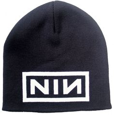 online store 35d7f 17956 Official Nine Inch Nails Black beanie hat featuring the NIN Logo design  printed on the front