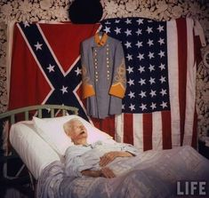 1959. This is 116 year old Walter Williams in his bed. He was the very last civil war veteran.