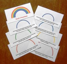 Rainbow Promise Booklet - Bible Craft Acitvity - More than ever, children need to learn to trust God's promises for their own lives. This simple activity is designed with that end in mind. It would be appropriate as part of a lesson on God'...