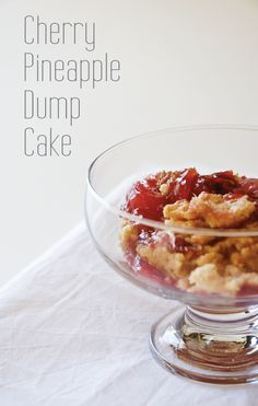 cherry pineapple dump cake recipe - one of my all-time favorites! It's a go-to, when I need to make a quick, easy dessert. Serve warm with vanilla ice cream!!