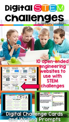 STEM goes digital with these fun and engaging design challenges. 10 websites and 90 challenges perfect for grades 3 and up. If you are in a paperless classroom or 1:1 with laptops or Chromebooks then these are ideal for you, but can also be used during computer lab time or with the laptop cart.