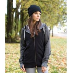4d46401d Lululemon Stretch-It Out Hoodie - Black / Heathered Deep Coal - lulu  fanatics