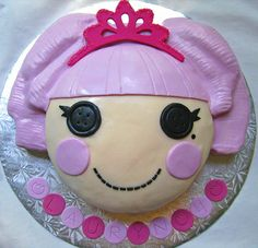 lalaloopsy cake ideas   lalaloopsy jewel sparkles cake hand carved vanilla cake filled with ...