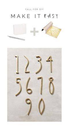 Fall For DIY Make it Easy Gold House Numbers
