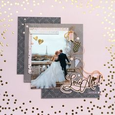 Layer scrapbook paper, use dots and lots of stickers