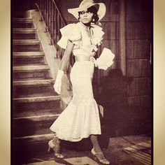 """Diana Ross as Billie Holiday in the 1972 classic, """"Lady Sings the Blues"""" designed by Bob Mackie and Ray Aghayan"""