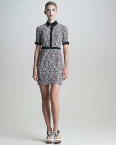 Jason Wu  Floral-Print Silk Shirtdress