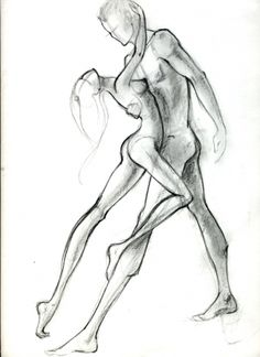 drawing a man and a woman together
