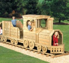 Woodworking plan to build train... this looks like a plan for grandpa!