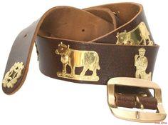 Appenzeller Gürtel / Swiss Appenzeller Leather Belt. A special Gift for every season. A true swiss product.