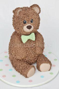 Sitting Teddy Bear by Irresistible Cakes www.irresistiblecakes.com.au
