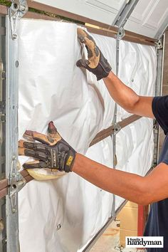 Protect your home with DIY insulation projects to properly protect pipes, outlets, attics, and much more! Find your insulation weak spots. Garage Door Insulation, Home Insulation, Garage Doors, Home Renovation, Home Remodeling, Home Maintenance Checklist, Camper, Home Fix, Diy Home Repair