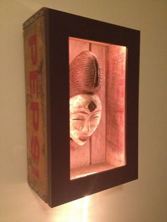 HOUSE TIME, FUN TIME!: DIY Shadowbox From an Old Soda Crate