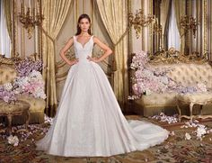 Platinum by Demetrios - Style - ANNA : The whimsical nature of anna will make you fall in love all over again. A true ball gown featuring a neckline that is both a little sweet heart & v-shaped and to the back a sexy v dip. Yes To The Dress, Bridal Collection, Ball Gowns, Luxury, Wedding Dresses, Sexy, Style, Wedding Stuff, Group