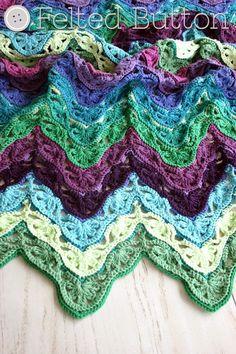 Free #crochet blanket pattern @feltedbutton