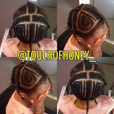 Vixen sew in braid pattern
