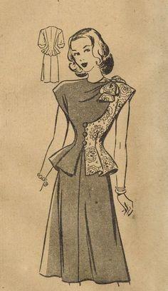 1940s Dress Pattern: