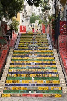 Created by Chilean-born artist Jorge Selarón, the colorful mosaic staircase in between Rio de Janeiro's Lapa and Santa Teresa neighborhoods is just asking for you to take a selfie in front of it.