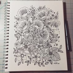 Pin by dawana foster on zentangles/doodles/drawing in 2019 Easy Doodle Art, Doodle Art Designs, Doodle Art Drawing, Doodle Patterns, Zentangle Patterns, Doodle Art Posters, Doodle Art Journals, Kunstjournal Inspiration, Art Journal Inspiration