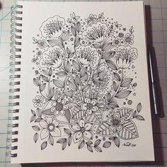 Pin by dawana foster on zentangles/doodles/drawing in 2019 Easy Doodle Art, Doodle Art Designs, Doodle Art Drawing, Zentangle Drawings, Doodle Patterns, Doodles Zentangles, Zentangle Patterns, Doodle Art Posters, Doodle Art Journals