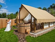 Glamping tent - http://gardenvillagebled.com/en/accommodation Slovenia