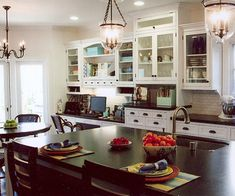 A Kitchen and Great-Room Combination. Love the home office spot for me.