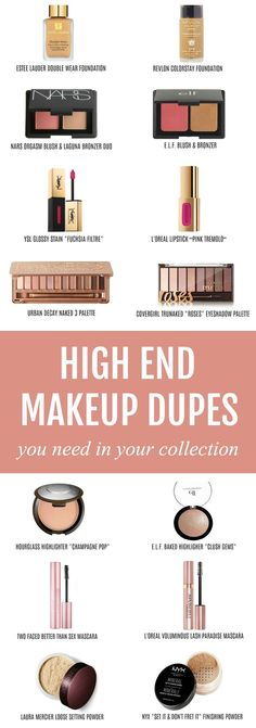One of each, please! | Beauty blogger Michelle Kehoe of Mash Elle shares the best affordable drugstore makeup dupes of some of your favorite high end makeup products! Discover dupes for Urban Decay, Hourglass, Too Faced, Lnacome, MAC, Laura Mercier, Anastasia Beverly Hills, Estee Lauder, NARS, YSL, Lorac, Giorgio Armani, Benefit, Chanel and more! Plus, discover my amazing money saving hack with @topcashbackUSA #ad #drugstoremakeup #makeupdupes #makeup #affordablemakeup