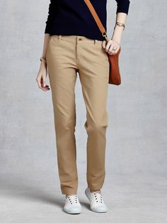 Khaki Pants Women Will Make You More Cool Style   Brown Khaki Pants Womens 71c3ed1e9