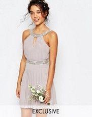TFNC | TFNC WEDDING Embellished Pleated Maxi Dress