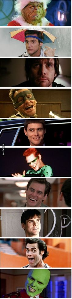 The many faces of Jim Carrey!
