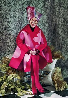 Iris Apfel in Comme des Garcons Dazed and Confused. Rock on!!!!